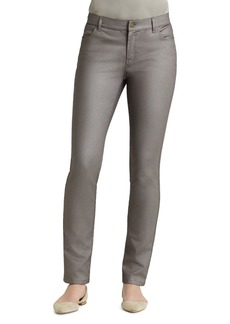 Lafayette 148 New York Curvy Slim Leg Coated Jeans in Mason