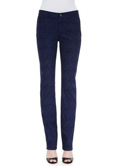 Lafayette 148 New York Curvy Slim-Leg Palm Jacquard Jeans