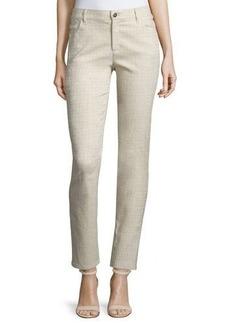 Lafayette 148 New York Curvy Slim-Leg Printed Jeans