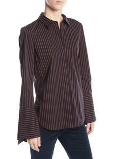 Lafayette 148 New York Cynthia Blouse in Spirited Stripes
