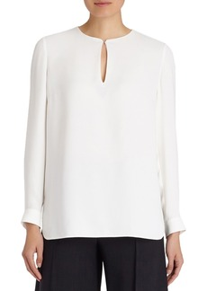 Lafayette 148 New York 'Cyrus' Double Silk Georgette Blouse