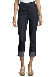 Lafayette 148 Dahlia Cropped Cuffed Jeans