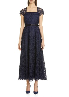 Lafayette 148 New York Daisy Belted Lace Maxi Dress