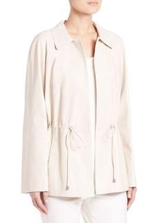 Lafayette 148 New York Dalia Leather Drawstring Jacket