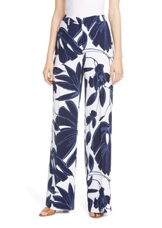 Lafayette 148 New York Dalton Botanical Print Wide Leg Pants