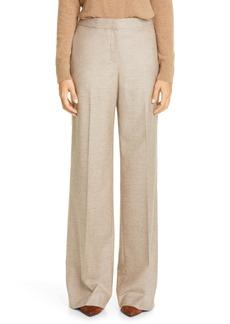 Lafayette 148 New York Dalton Stretch Wool & Silk Wide Leg Pants