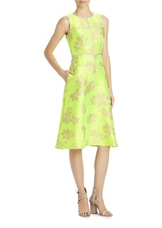Lafayette 148 Damaris Floral Jacquard Dress