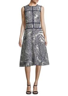 Lafayette 148 New York Damaris Palm Fil Coupe Dress