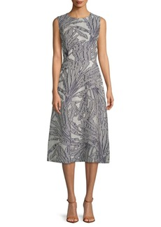 Lafayette 148 Damaris Printed Midi Dress
