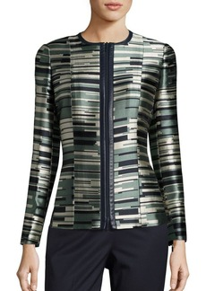 Lafayette 148 New York Damien Striped Jacquard Jacket