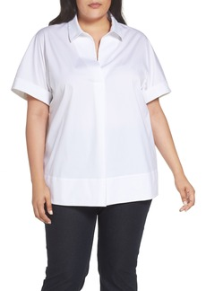 Lafayette 148 New York Damon Blouse (Plus Size)