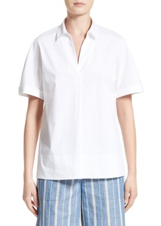 Lafayette 148 New York Damon Cotton Blend Blouse
