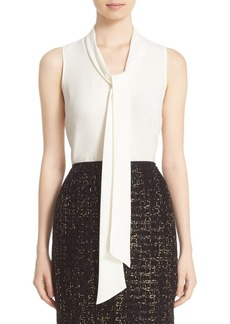 Lafayette 148 New York 'Dana' Tie Neck Silk Blouse