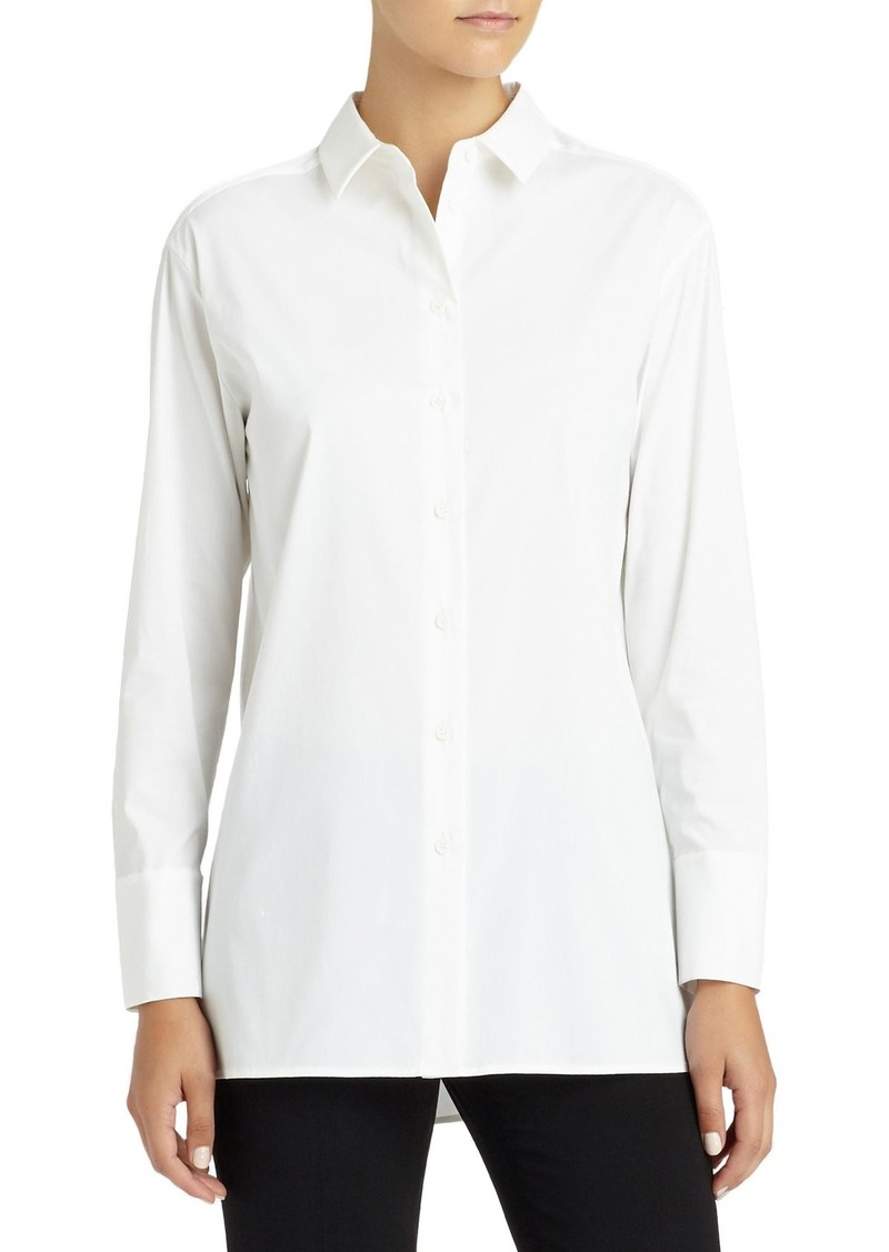 Lafayette 148 New York Dannell Stretch Cotton Blouse
