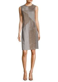 Lafayette 148 New York Daren Suede And Calf Hair Shift Dress