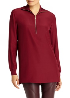 Lafayette 148 New York Daryn Matte Silk & Knit Combo Blouse