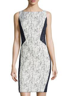 Lafayette 148 New York Deana Textured Sleeveless Sheath Dress
