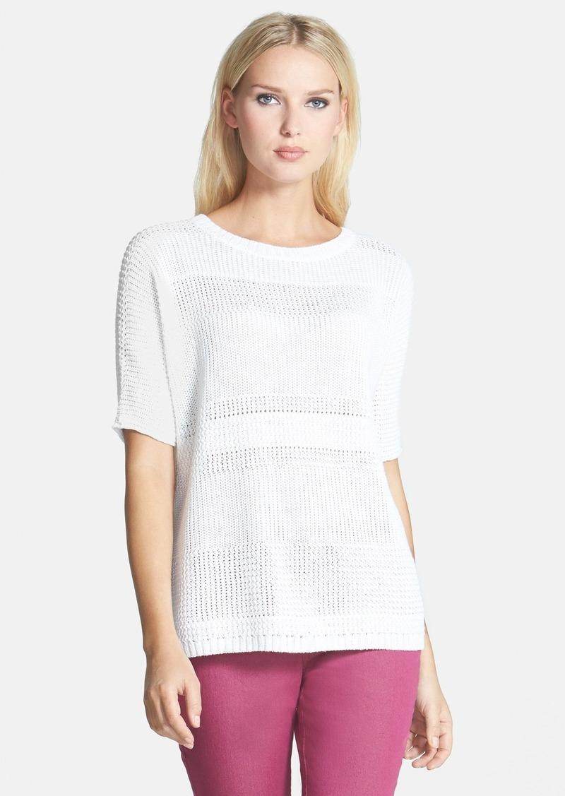 Lafayette 148 New York Delave Hemp Elbow Sleeve Sweater
