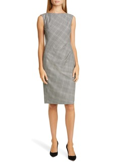 Lafayette 148 New York Della Houndstooth Sheath Dress