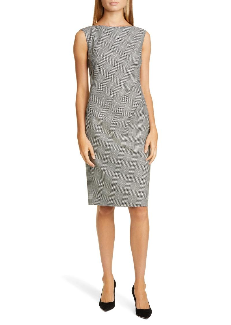 Lafayette 148 New York Della Houndstooth Sheath Dress