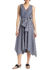 Lafayette 148 New York Demetria Stripe Poplin Dress