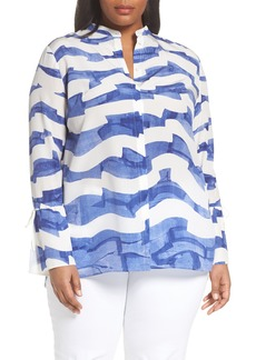 Lafayette 148 New York Desra Silk Blouse (Plus Size)