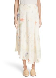 Lafayette 148 New York Dessie Modern Muse Print Silk Midi Skirt