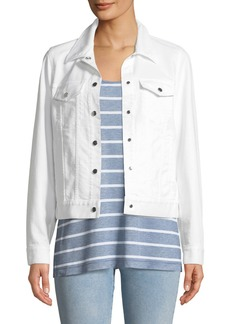 Lafayette 148 New York Destiny Yarn-Dyed Denim Jacket