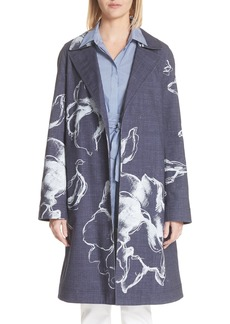 Lafayette 148 New York Dina Desert Bloom Trench Coat