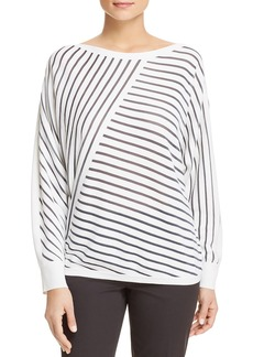 Lafayette 148 New York Directional-Stripe Sweater
