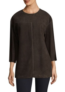 Lafayette 148 New York Divya Suede Blouse