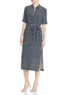 Lafayette 148 New York Doha Silk Short-Sleeve Geometric-Print Shirt Dress