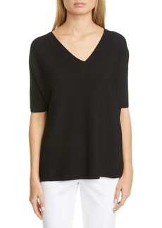 Lafayette 148 New York Dolman Sleeve Matte Crepe Sweater