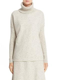Lafayette 148 New York Donegal Wool Jersey Sweatshirt Turtleneck