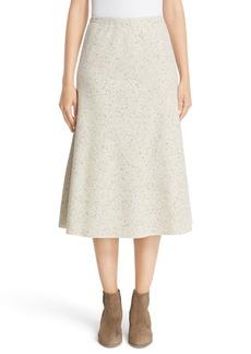 Lafayette 148 New York Donegal Wool Jersey Tulip Skirt