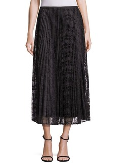 Lafayette 148 Dorothy Pleated Lace Skirt