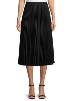 Lafayette 148 New York Dorothy Pleated Midi Skirt