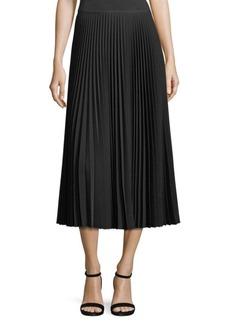 Lafayette 148 New York Dorothy Pleated Midi Skirt