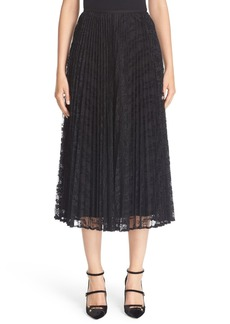 Lafayette 148 New York 'Dorothy' Regina Pleated Lace Skirt