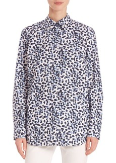 Lafayette 148 New York Dotted Button-Front Shirt