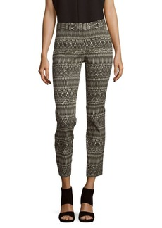 Lafayette 148 New York Downtown Printed Cropped Pants