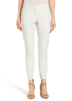 Lafayette 148 New York 'Downtown' Stretch Cotton Blend Cuff Ankle Pants (Regular & Petite)