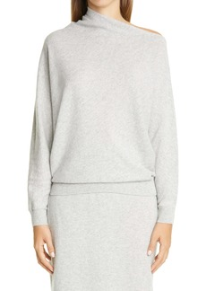 Lafayette 148 New York Draped Asymmetrical Neck Cashmere Sweater