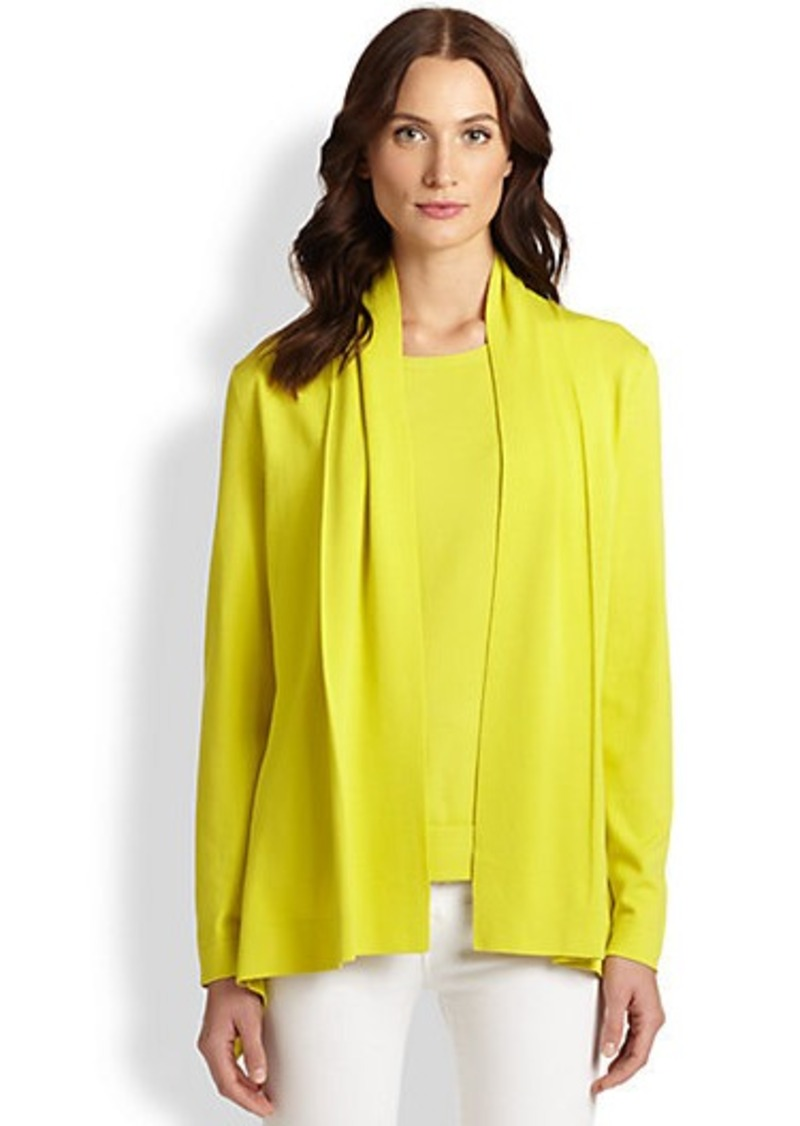 Lafayette 148 New York Draped Shawl-Collar Cardigan