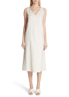 Lafayette 148 New York Duncan Embroidered Linen Dress