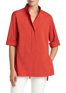 Lafayette 148 New York Dylan Cotton Blend Blouse