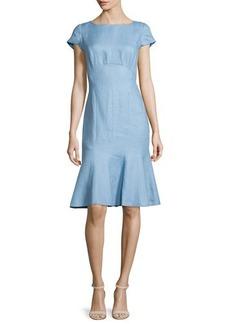 Lafayette 148 New York Edwina Linen Fit-and-Flare Dress