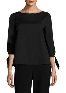 Lafayette 148 New York Elaina Solid Cotton-Blend Blouse