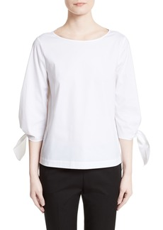 Lafayette 148 New York Elaina Stretch Cotton Blouse