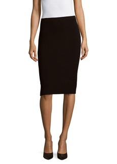 Lafayette 148 New York Elasticized-Waist Textured Skirt